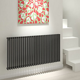 Kudox Xylo Horizontal Radiator Anthracite (H)600 mm (W)1180