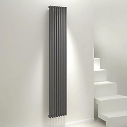 Kudox Xylo Vertical Radiator Anthracite, (H)1800 mm (W)300