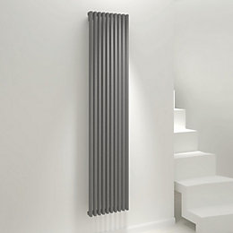 Kudox Xylo Vertical Radiator Anthracite, (H)1800 mm (W)380