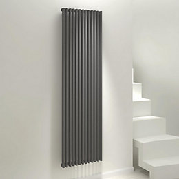 Kudox Xylo Vertical Radiator Anthracite, (H)1800 mm (W)500