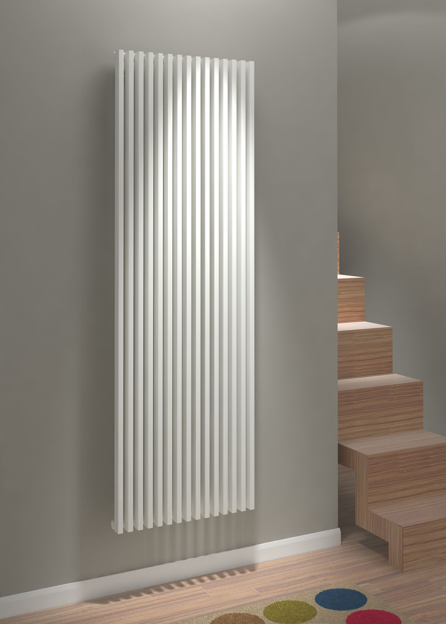 Kudox Xylo Vertical Radiator White (h)1800 Mm (w)580 Mm