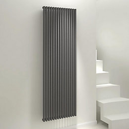 Kudox Xylo Vertical Radiator Anthracite, (H)1800 mm (W)580