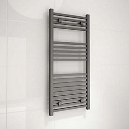 Kudox Sevilla Anthracite Towel Warmer (H)974mm (W)450mm