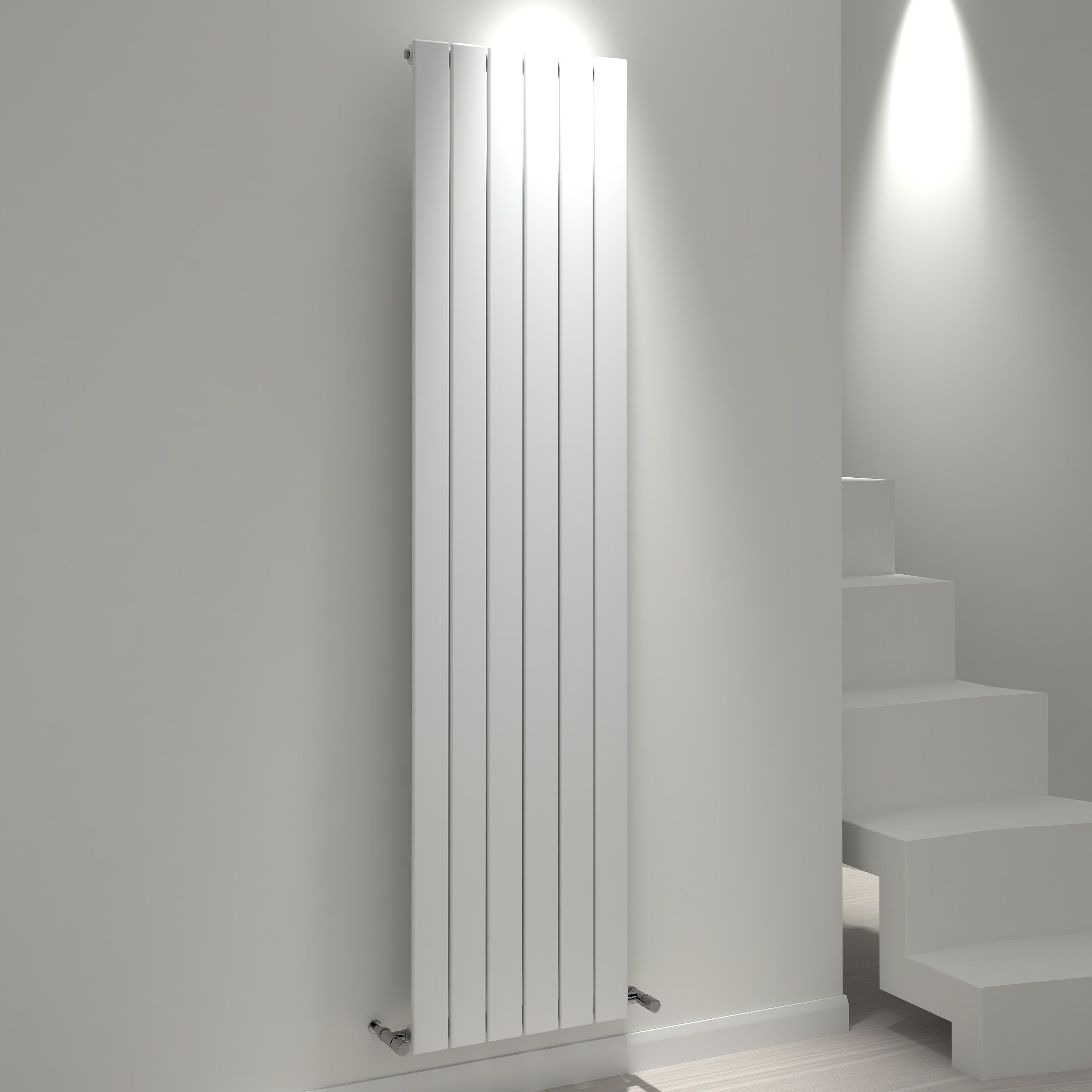 Kudox Tira Vertical Radiator White (h)1800 Mm (w)440 Mm