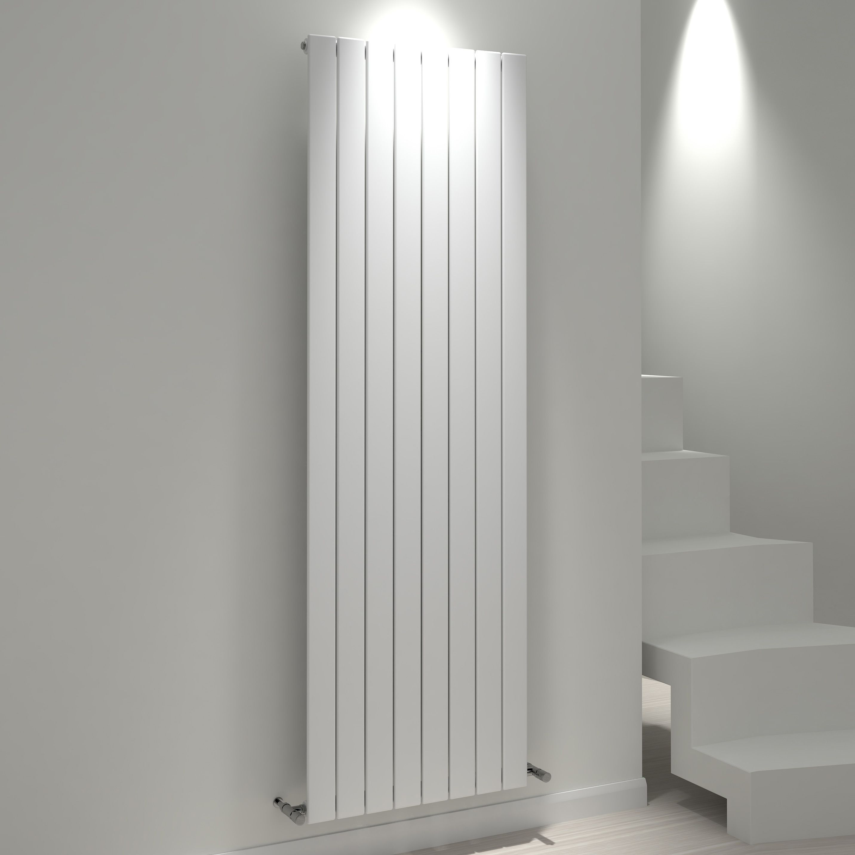 Kudox Tira Vertical Radiator White (h)1800 Mm (w)588 Mm