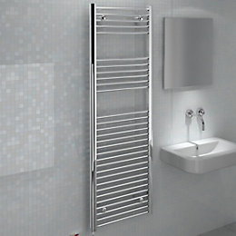Kudox Silver Towel Warmer (H)1500mm (W)500mm