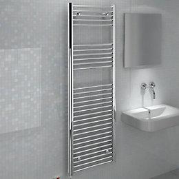 Kudox Silver Towel Warmer (H)1500 (W)500 mm