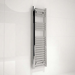Kudox Silver Towel Rail (H)1100mm (W)300mm