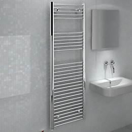 Kudox Silver Towel Warmer (H)1800mm (W)600mm