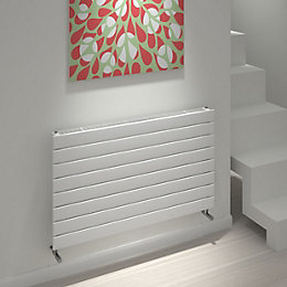 Kudox Tira Horizontal Radiator White, (H)588 mm (W)1000
