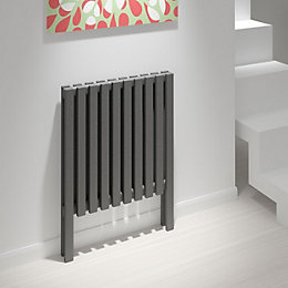 Kudox Axim Vertical Radiator Anthracite, (H)800 mm (W)580