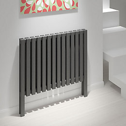 Kudox Axim Horizontal Radiator Anthracite, (H)800 mm (W)820