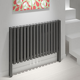 Kudox Axim Horizontal Radiator Anthracite, (H)800 mm (W)1000