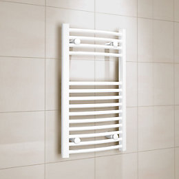 Kudox White Towel Warmer (H)700mm (W)400mm