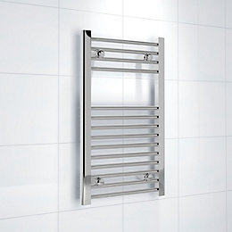 Kudox Silver Towel Rail (H)700mm (W)400mm