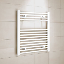 Kudox White Towel Warmer (H)700 (W)600 mm