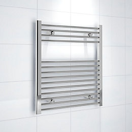 Kudox Silver Towel Rail (H)700mm (W)600mm