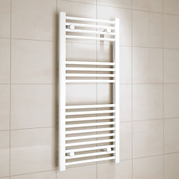 Kudox White Towel Rail (H)1000mm (W)450mm