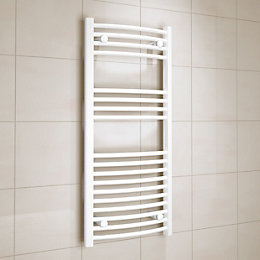 Kudox White Towel Warmer (H)1000mm (W)450mm