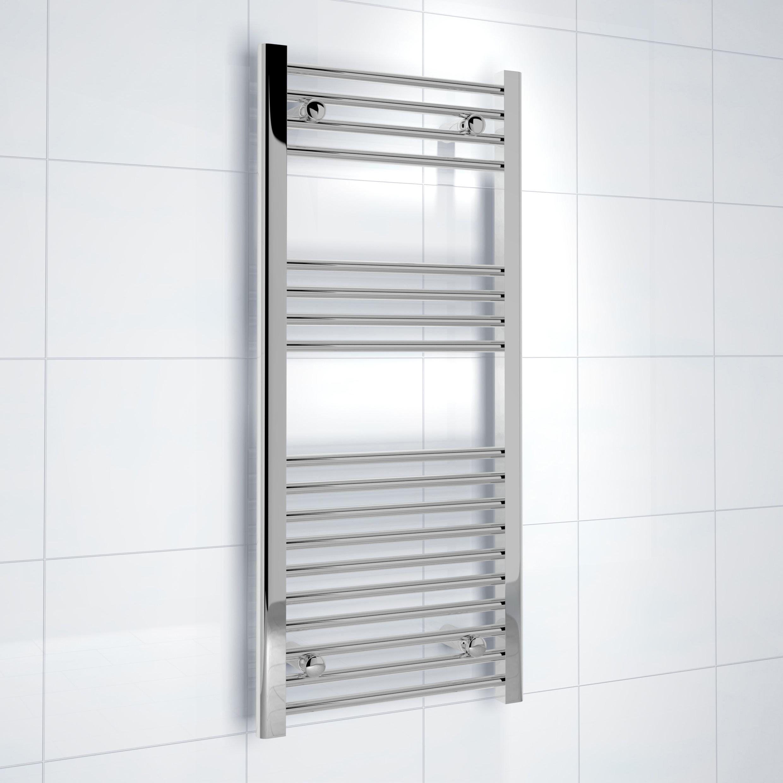 Kudox Electric Silver Towel Rail H 1000mm W 450mm: Kudox Silver Towel Rail (H)1000mm (W)450mm
