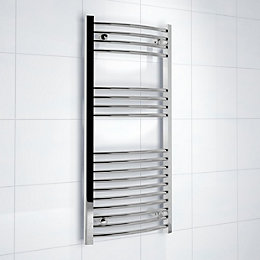 Kudox Silver Towel Warmer (H)1000mm (W)450mm