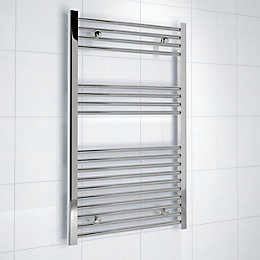 Kudox Silver Towel Rail (H)1000mm (W)600mm