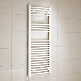 Kudox White Towel Warmer (H)1200 (W)450 mm
