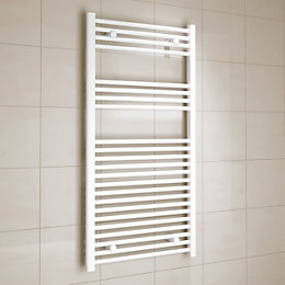 Kudox White Towel Warmer (H)1200mm (W)600mm