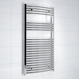 Kudox Silver Towel Warmer (H)1200mm (W)600mm