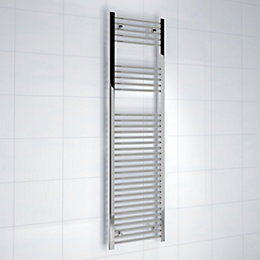 Kudox Silver Towel Rail (H)1600mm (W)450mm