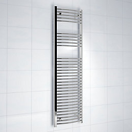 Kudox Silver Towel Warmer (H)1600mm (W)450mm