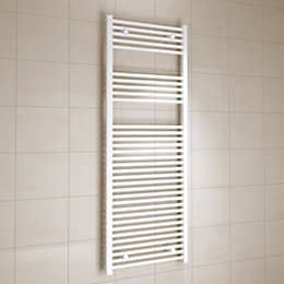 Kudox White Towel Warmer (H)1600mm (W)600mm
