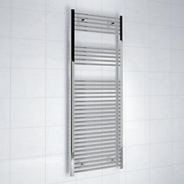 Kudox Silver Towel Rail (H)1600 (W)600 mm