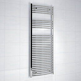 Kudox Silver Towel Rail (H)1600mm (W)600mm