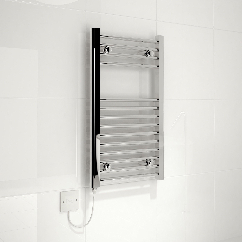 Kudox Electric Towel Rail 400mm X 700mm Chrome: Chrome Towel Rail
