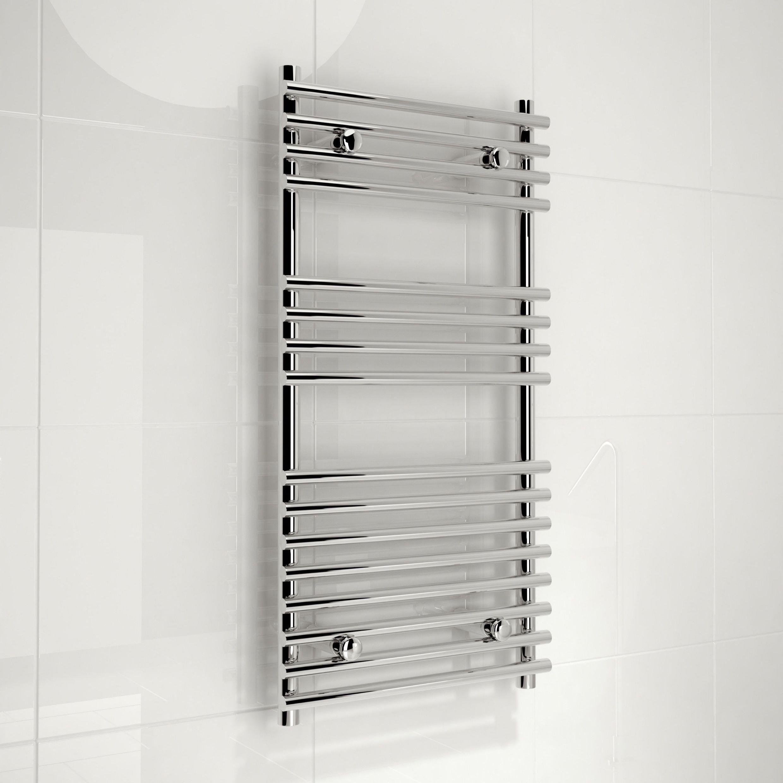 Kudox Electric Silver Towel Rail H 1000mm W 450mm: NEW BOXED Kudox Harrogate Designer Silver Towel Rail (H