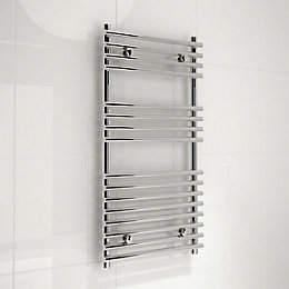 Kudox Harrogate Silver Towel Rail (H)900mm (W)450mm