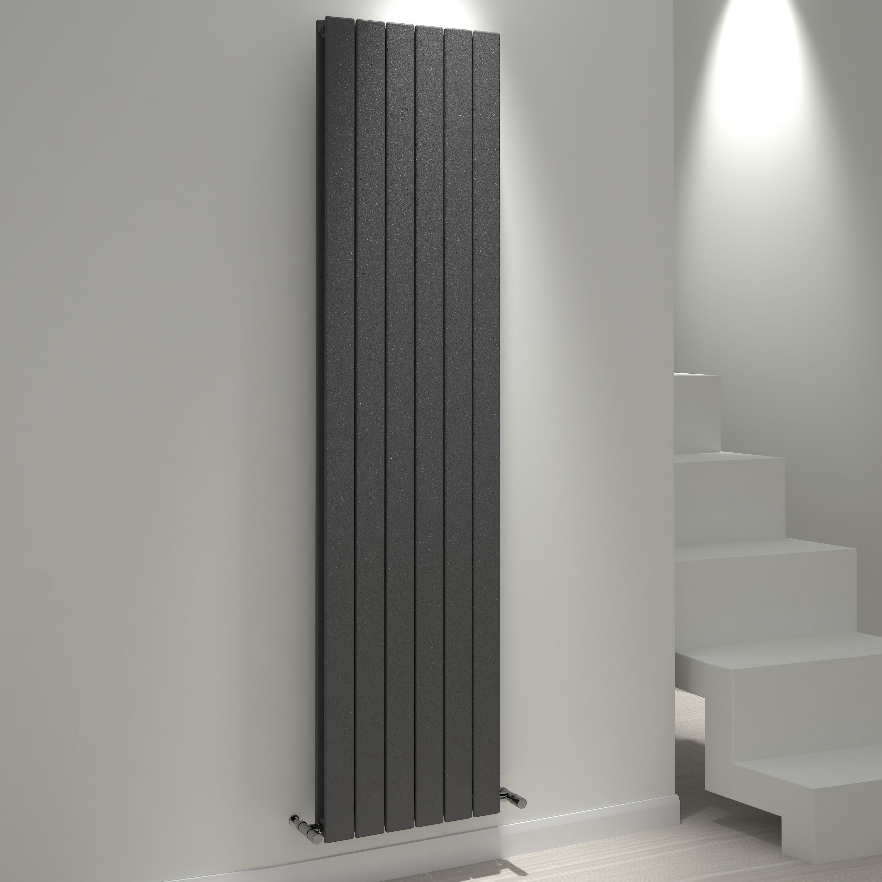 Kudox Tira Vertical Radiator Anthracite (h)1800 Mm (w)440 Mm