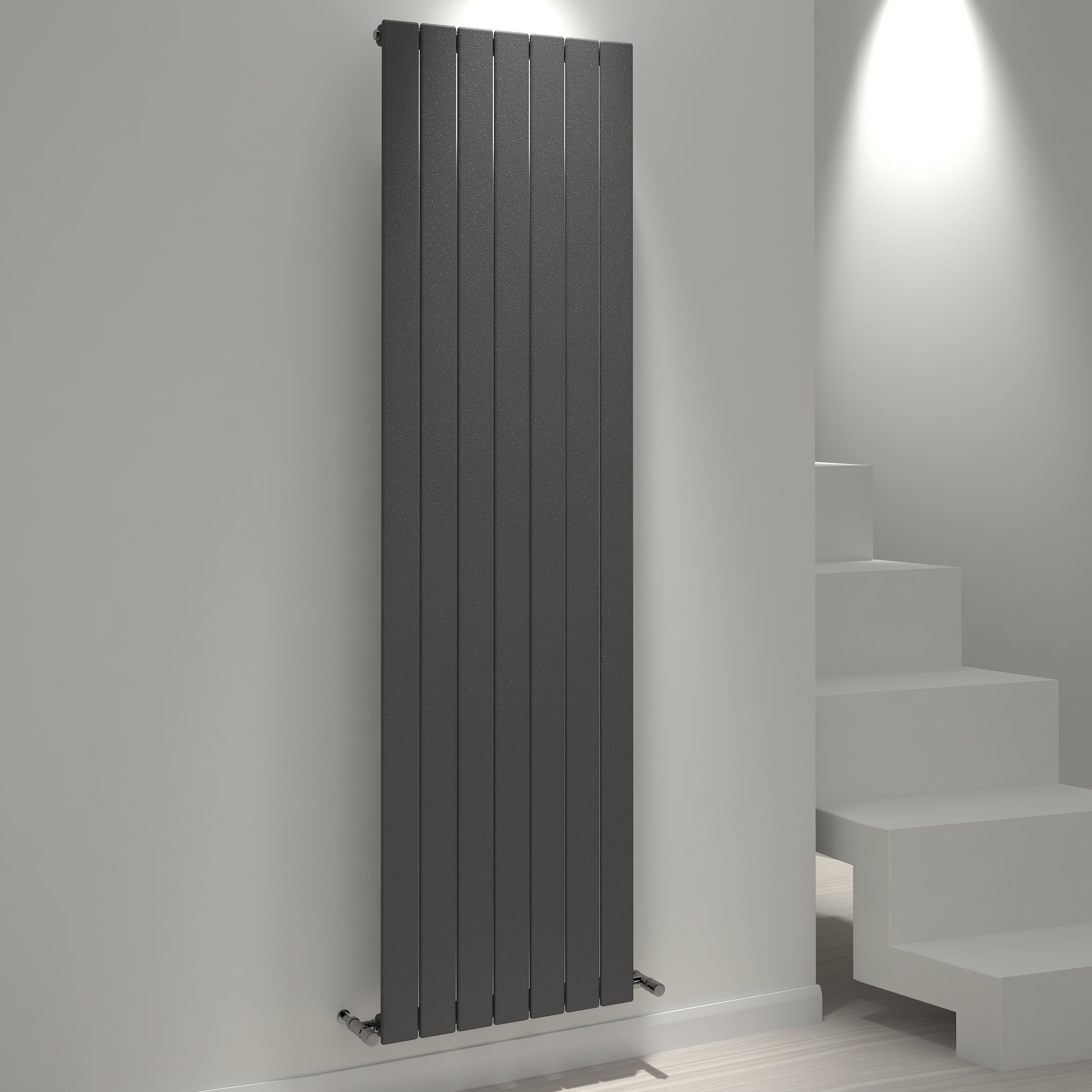 Kudox Tira Vertical Radiator Anthracite (h)1800 Mm (w)514 Mm