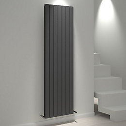 Kudox Tira Vertical Radiator Anthracite, (H)1800 mm (W)514