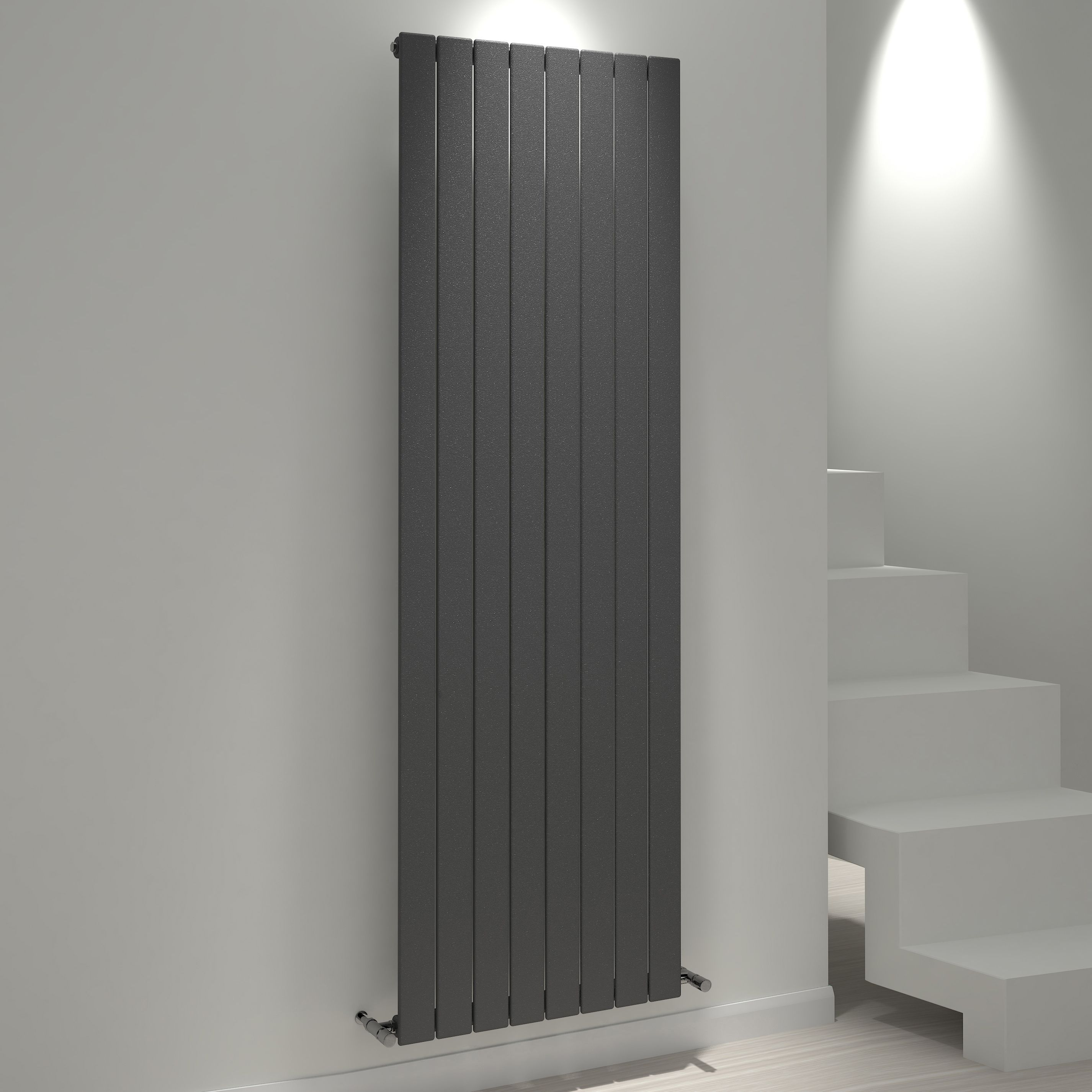 Kudox Tira Vertical Radiator Anthracite (h)1800 Mm (w)588 Mm
