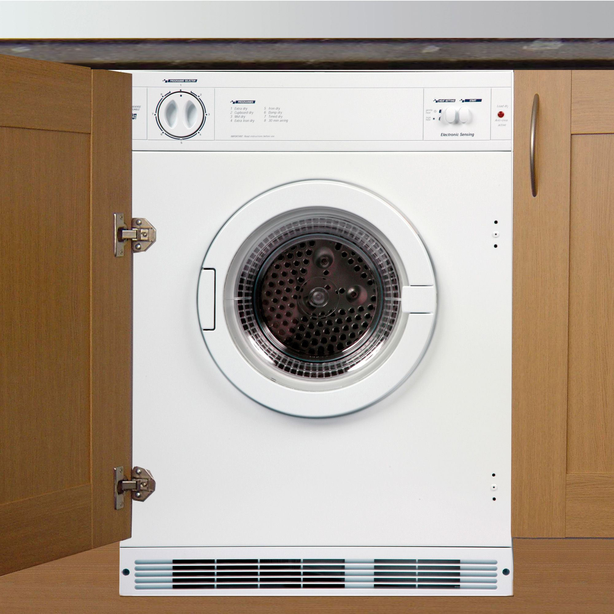 Animated Tumble Dryer ~ Cata tds w white built in tumble dryer departments