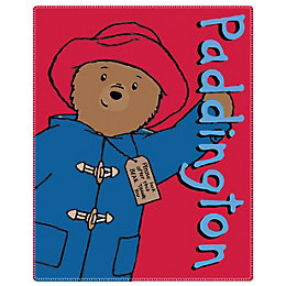 Paddington Bear Red & Blue Fleece Blanket