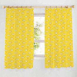 Minion Made Yellow Pencil Pleat Children's Curtains (W)167cm