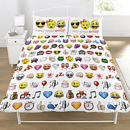 I Only Speak Emoji Multicolour Double Duvet Set