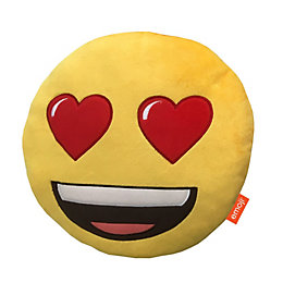 Emoji Heart Eyes Yellow Cushion