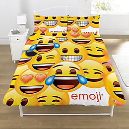 Emoji Smiley Yellow Double Duvet Set