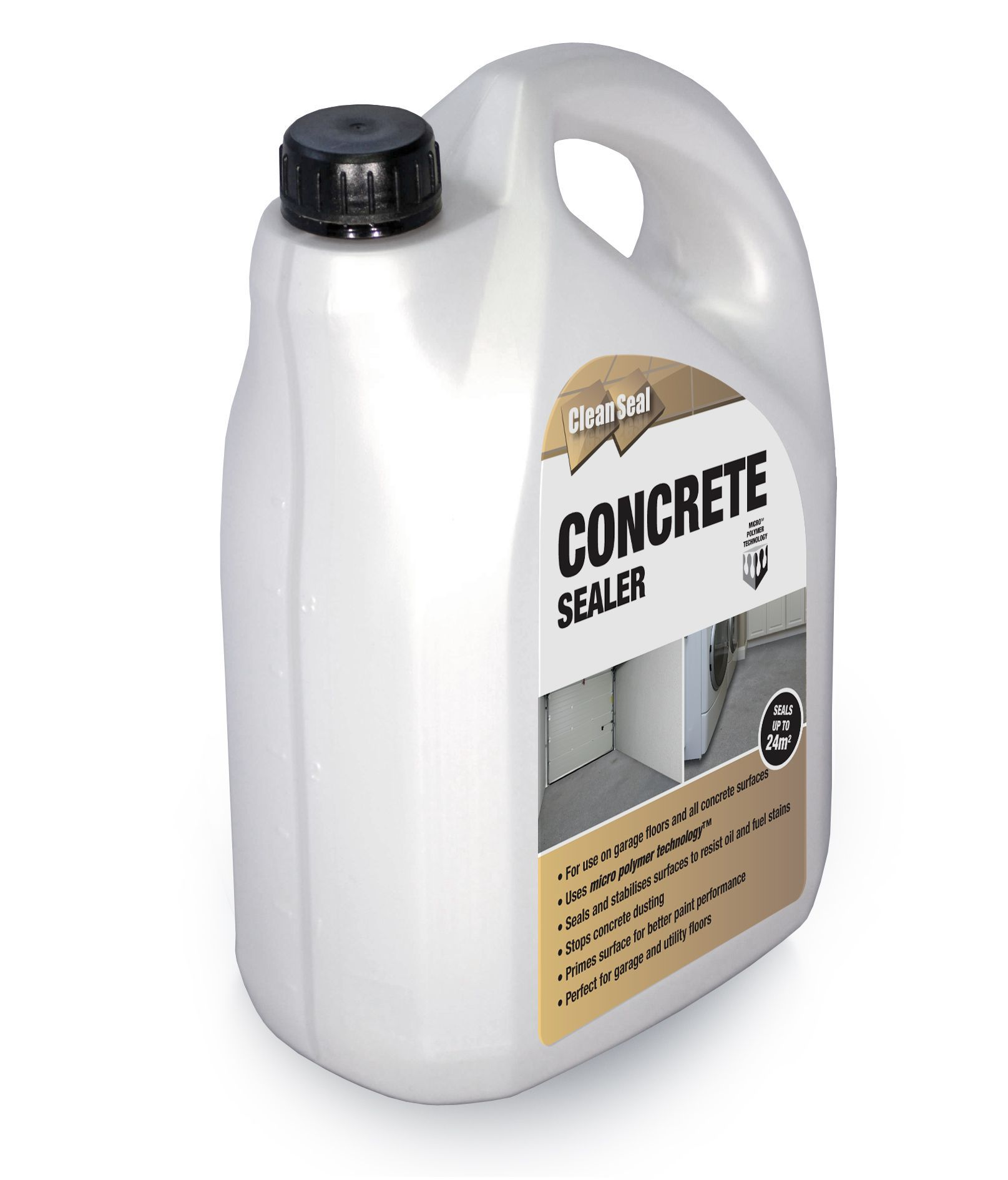 Clean seal colourless concrete sealer 4000ml departments for Homemade concrete cleaner