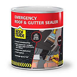 Rooftrade Black Emergency Roof & Gutter Sealer 1L