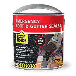 Rooftrade Black Emergency Roof & Gutter Sealer 2.5L